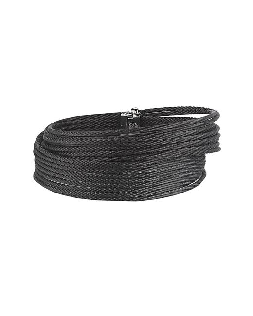 Item - Black Cable Stainless Steel Wrap Bangle 04-52-0500-00 Jewelry