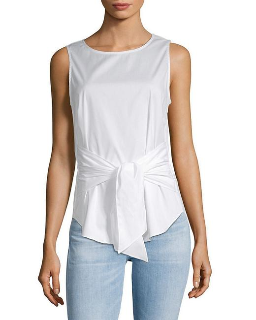 Item - Sleeveless Tie Front Cotton Top Sp18-1028 Blouse