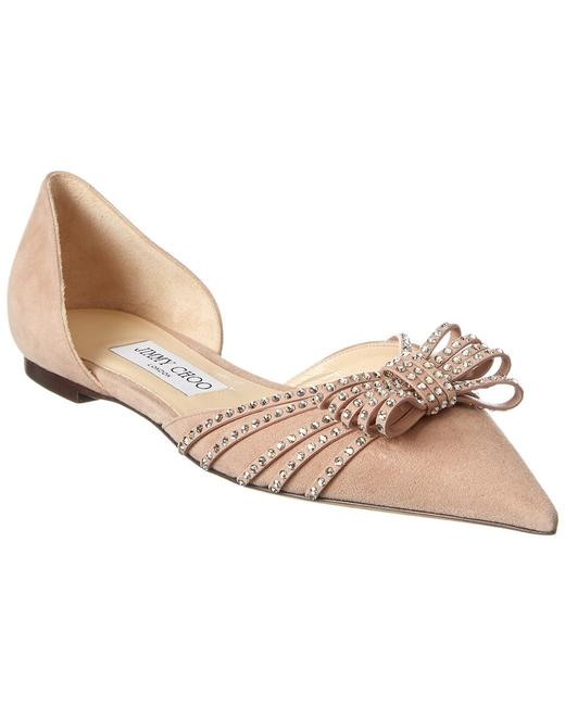 Jimmy Choo Suede Kaitence Ballet Pink/Silver Shade Flats 13136914890000 Image 1