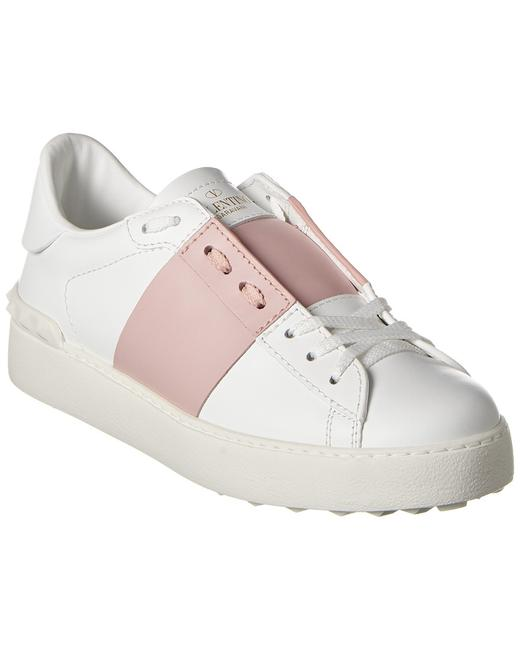 Valentino Open Leather Sneaker Tw2s0781 Blu 834 Athletic 13136680620002 Image 1