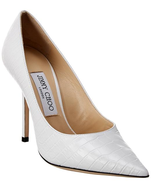 Jimmy Choo Croc-embossed Leather Love 100 Ccl Latte Pumps 13137095160001 Image 1