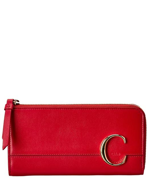Chloé C Long Leather Chc19wp 084a37 6bb Wallet 11117001960000 Image 1