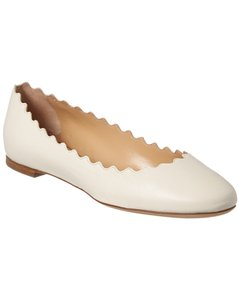Chloé Lauren Scalloped Leather Ballerina Chc16a16 075 121 Flats