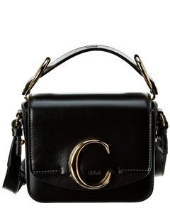 Chloé C Mini Leather & Suede Chc19us193 A37 23w Shoulder Bag