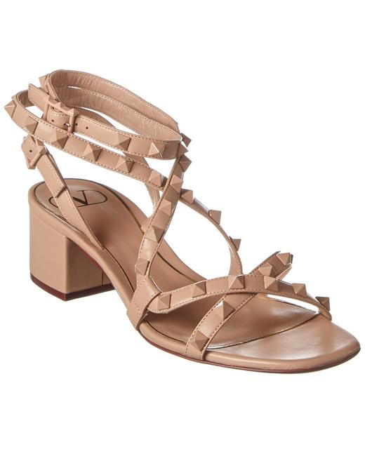 Valentino Rockstud Flair 50 Leather Tw0s0y20 Mlr Gf9 Sandals 13136640650004 Image 1