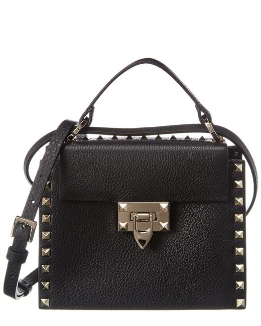 Valentino Rockstud Grainy Leather Tw0b0g49 Vsf 0no Shoulder Bag 11606680510000 Image 1