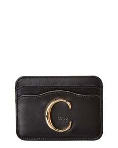 Chloé Signature Leather Card Holder Chc19up085 A37 001 Wallet