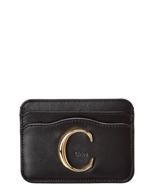 Chloé Signature Leather Card Holder Chc19up085 A37 001 Wallet Chloé Signature Leather Card Holder Chc19up085 A37 001 Wallet Image 1