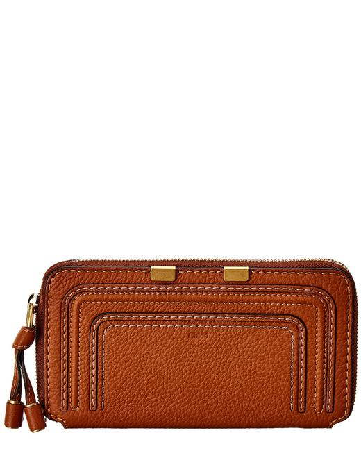Chloé Marcie Long Leather Zip Around Chc10up 571161 25m Wallet 11117001800000 Image 1