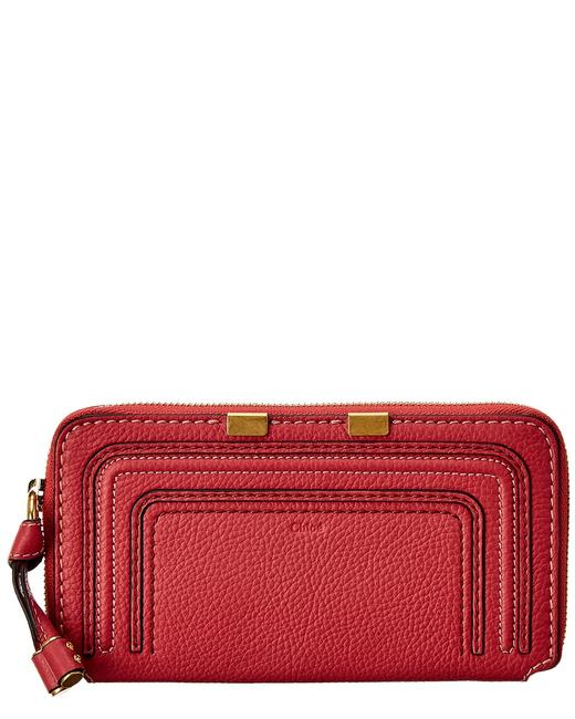 Item - Marcie Long Leather Zip Around Chc10up 571161 6am Wallet