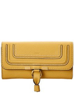 Chloé Marcie Long Leather Flap Wallet Chc10up 573161 746 Accessory
