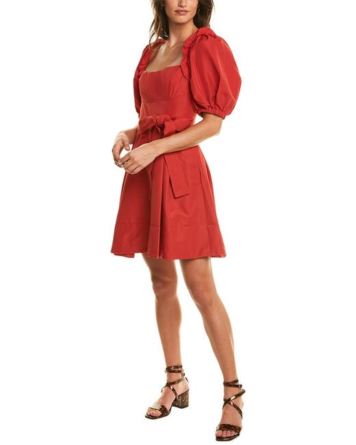 Item - Taffeta A-line Pf20 052s Red Cocktail Dress