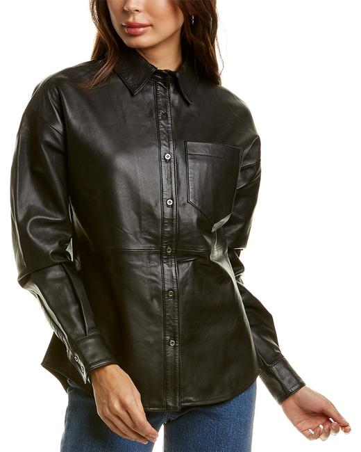 Walter Baker Colette Leather Top Wb53156 Blouse 14117018510001 Image 1