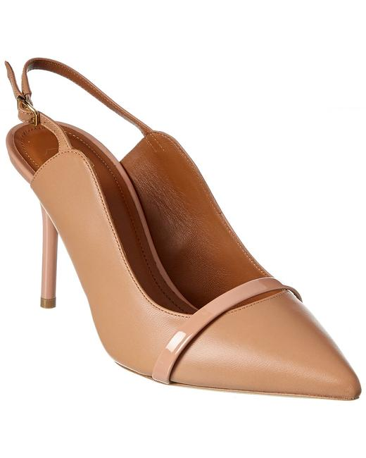 Malone Souliers Maureen Leather Slingback Marion Ms 85 Nude Pumps 13136842290004 Image 1
