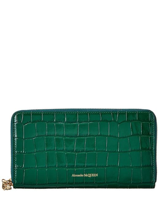 Item - Croc-embossed Leather Continental Wallet