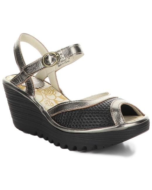FLY London Yans Leather Wedge Yans190fly Sandals 13116608950001 Image 1