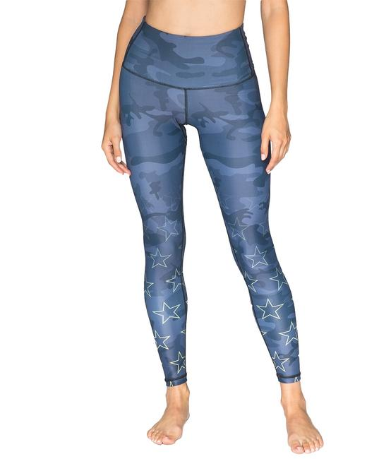 chrldr Black Camo Stars High Waisted Cl11566 Leggings chrldr Black Camo Stars High Waisted Cl11566 Leggings Image 1