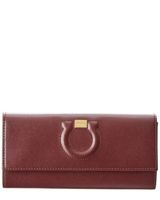 Salvatore Ferragamo Gancini City Leather Continental Wallet 22 C827 0695890 Accessory 11117194550000 Image 1