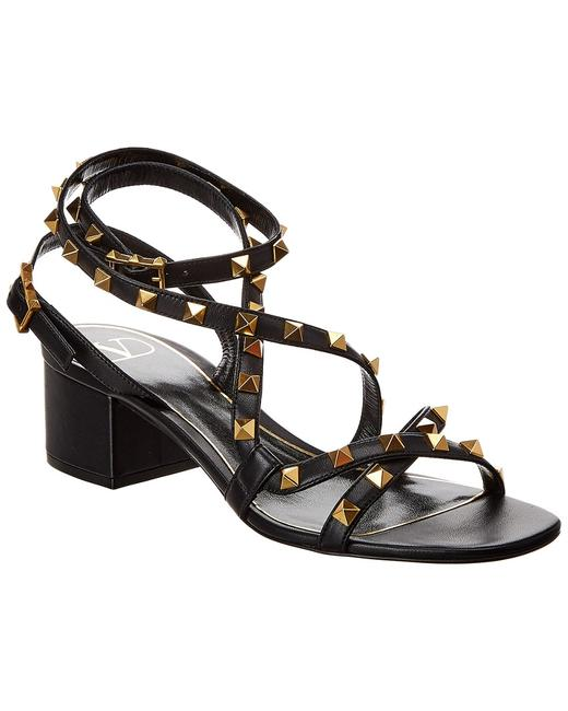 Valentino Rockstud Flair 50 Leather Tw0s0y20 Hyh 0no Sandals 13137054600002 Image 1