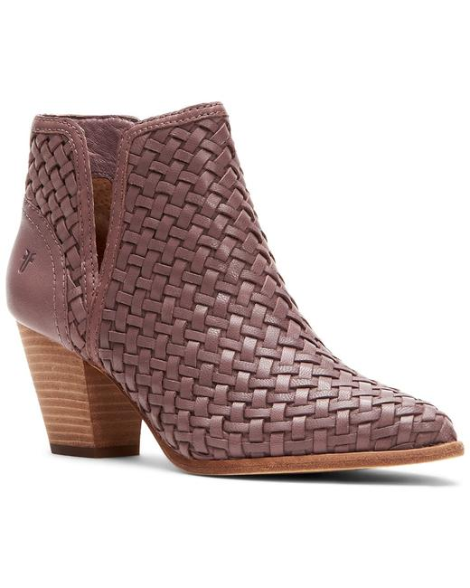 Item - Reed Cutout Woven Leather 3478484-lil Boots/Booties