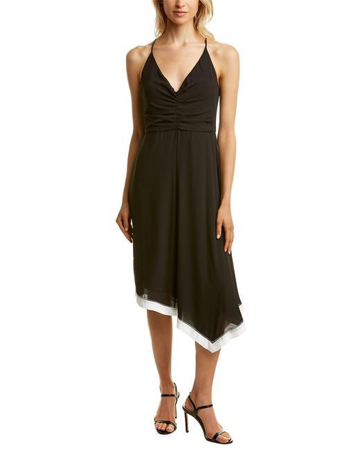 Halston Heritage Ruched Midi Sge052574t Short Casual Dress 10506999100003 Image 1