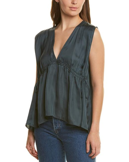 Halston Heritage Cinched Top Mdk011460 Blouse Halston Heritage Cinched Top Mdk011460 Blouse Image 1
