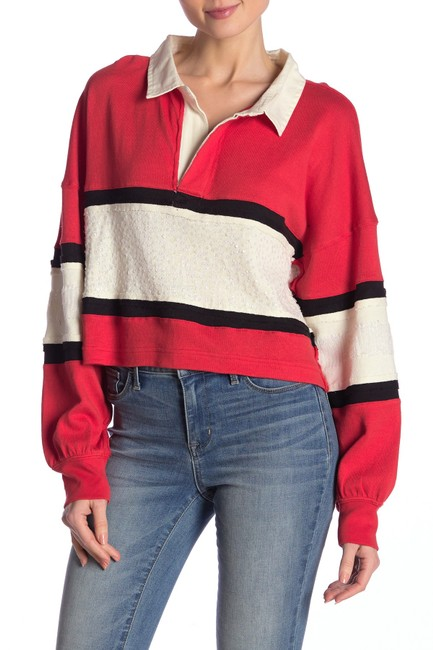 Item - Party Polo Oversized Crop Tee Shirt