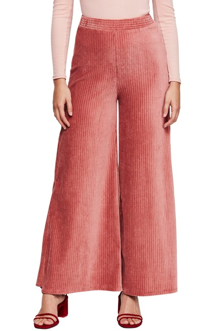Item - Sasha Animal-print Sheer-trim Pants