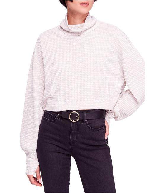 Item - Waffle-knit Cropped Turtleneck Sweater/Pullover