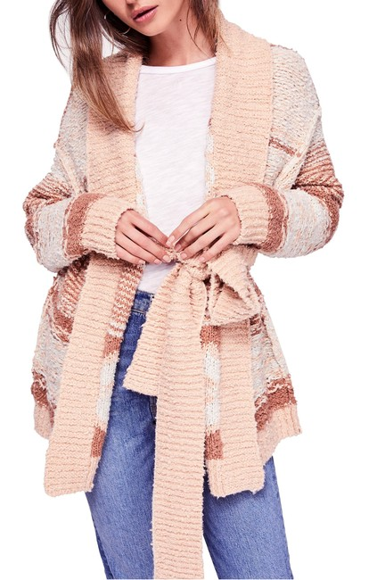 Item - Cozy Cabin Mixed-knit Belted Cardigan Sweater/Pullover