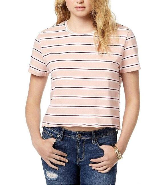 Item - Striped Unfinished T-shirt Tee Shirt