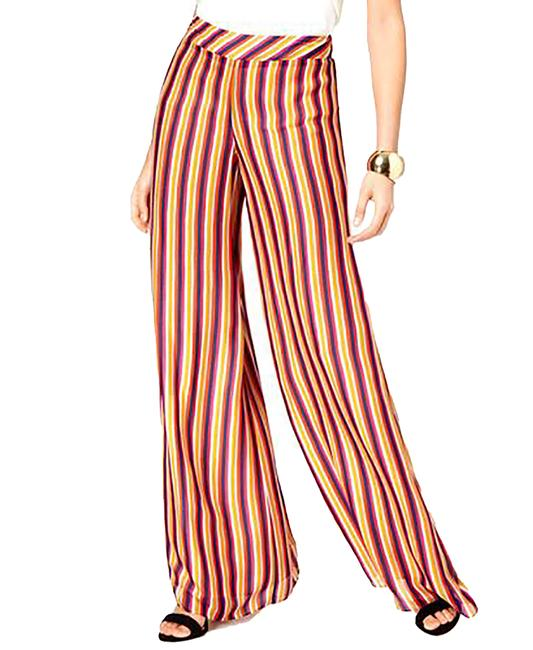Item - Striped Pull-on Wide Leg Pants