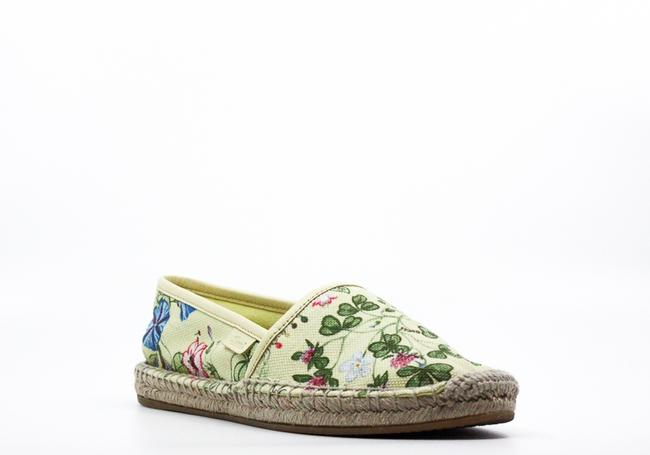 Item - Floral Knight Print Canvas Espadrille Flats