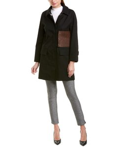 Burberry Monogram Leather-trim Coat 8017104