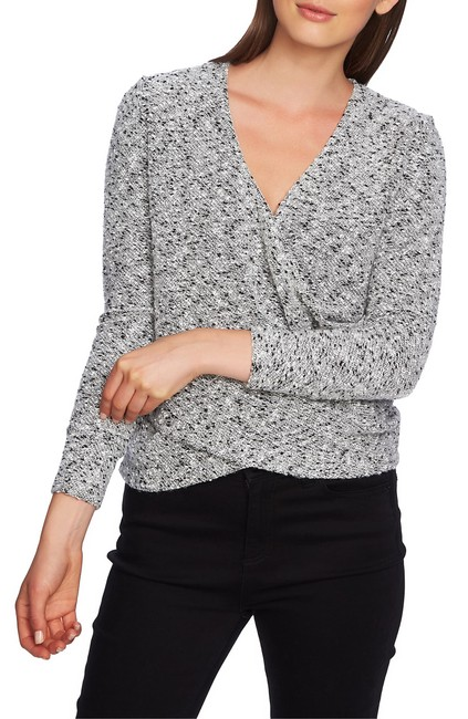 1.STATE Boucle Crossover Top Blouse 1.STATE Boucle Crossover Top Blouse Image 1