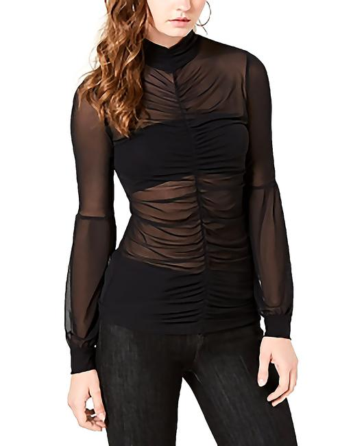 Item - Camilo Ruched Sheer Top Blouse