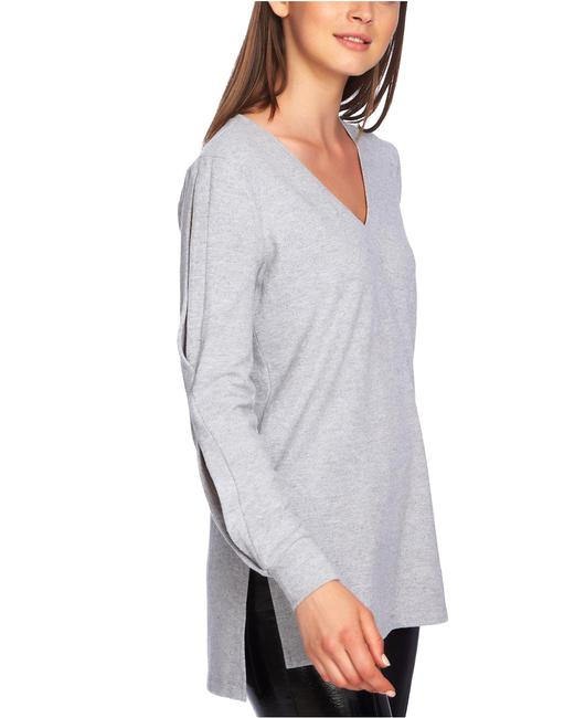Item - Cozy Split-sleeve V-neck Top Blouse
