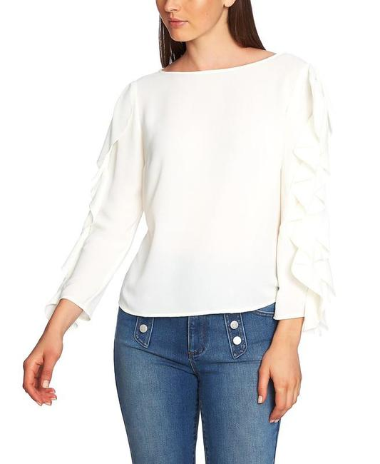 1.STATE Ruffle-sleeve Top Blouse 1.STATE Ruffle-sleeve Top Blouse Image 1