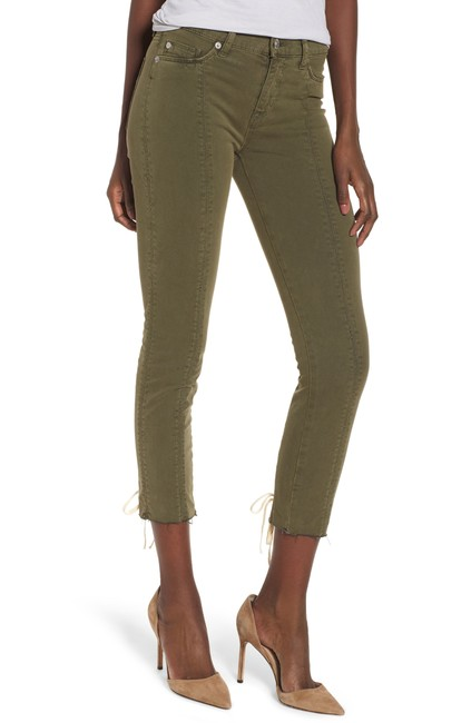 Hudson Nico Mid-rise Crop Lace-up Skinny Pants Hudson Nico Mid-rise Crop Lace-up Skinny Pants Image 1