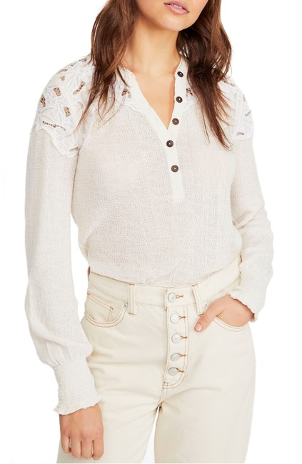 Free People Easy Breezy Henley Blouse Free People Easy Breezy Henley Blouse Image 1
