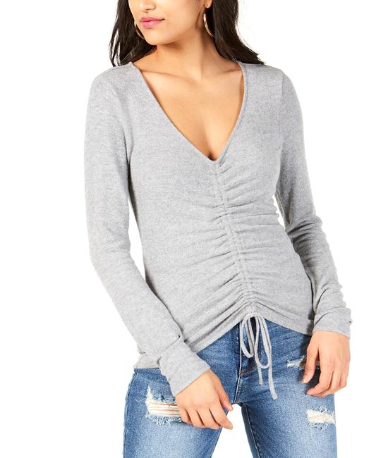 Item - Ruched Tie Front Pullover Top Blouse