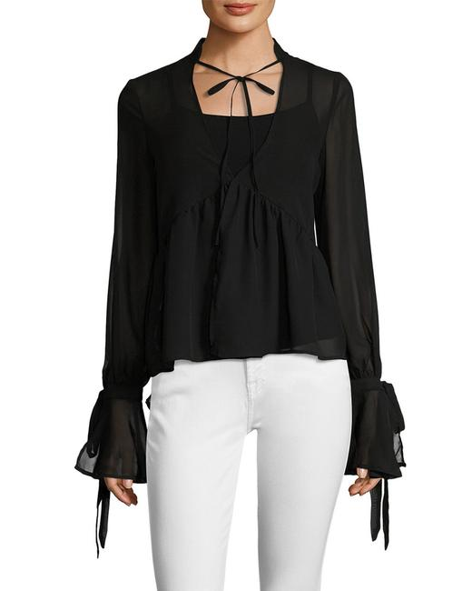 Item - Overlay Bell Sleeve Top Wt4 Blouse