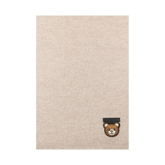 Item - Wool Teddy Bear Patch Light Beige Scarf/Wrap