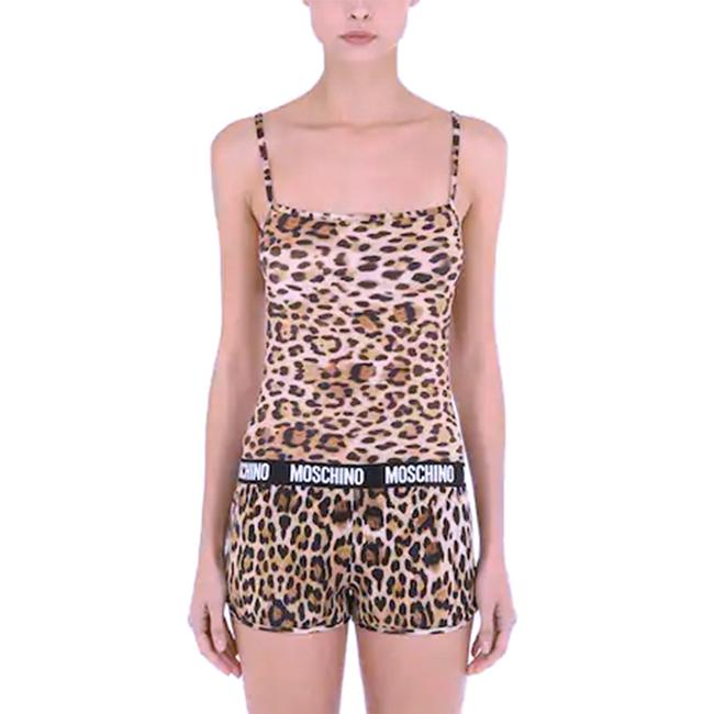 Item - Underwear Animal Print Logo Band Microfiber Tank Top Tee Shirt