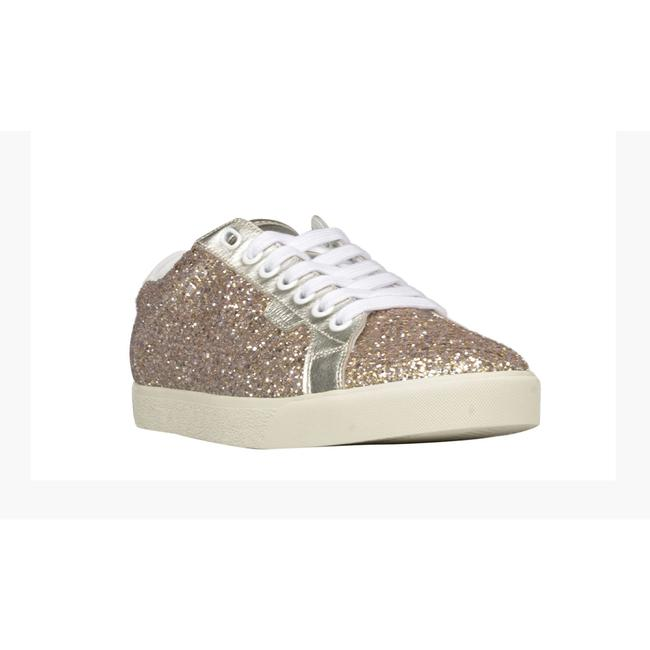 Item - Triomphe Low Lace In Glitter and Calfskin Sneaker Athletic