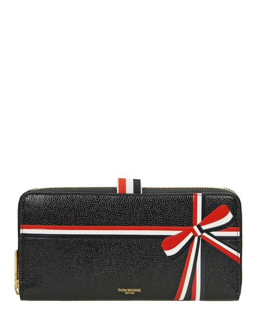 Item - Womens Long Zip Around Pebble Leather Black Faw048a-03542-001-uni Wallet