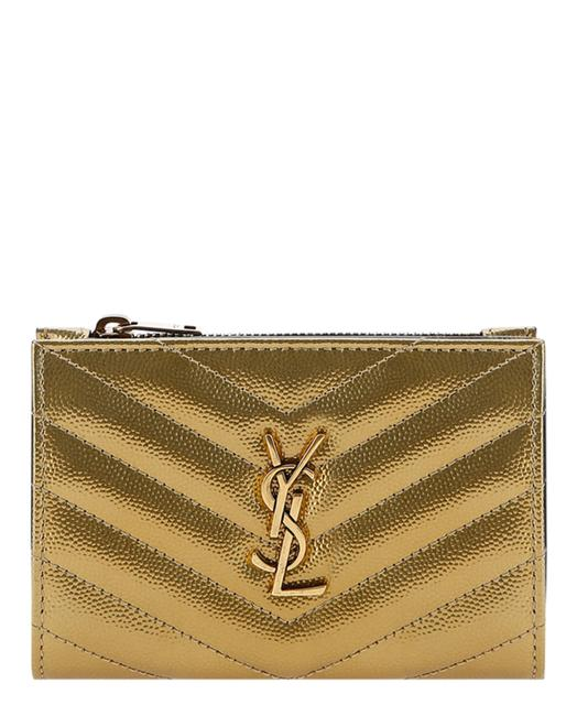 Saint Laurent Monogram Zippered Two Part Wallet Saint Laurent Monogram Zippered Two Part Wallet Image 1