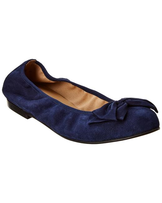 French Sole Suede Carmel Flats 13114307270003 Image 1