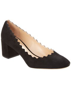 Chloé Lauren Scalloped Suede Chc16s23 001 001 Pumps