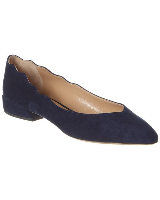 Chloé Laurena Scalloped Suede Ballerina Chc19a20 801 4a8 Flats Chloé Laurena Scalloped Suede Ballerina Chc19a20 801 4a8 Flats Image 1